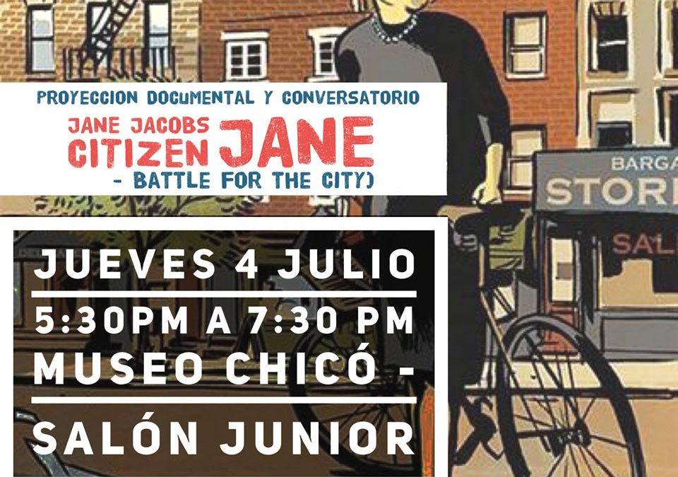 Jane Jacobs: Proyección de documental y conversatorio