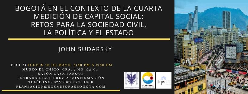 Asista a una charla gratuita sobre Bogotá de cara al capital social