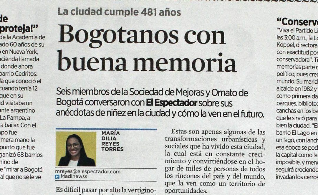 Bogotá contada a través de recuerdos